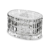 """Valparaiso Crusaders 5"""" Deep Etched Oval Crystal Table Box"""