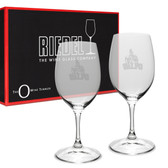 Valparaiso Crusaders Riedel - 10 oz Deep Etched White WINE GLASS