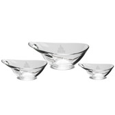 Valparaiso Crusaders Set of 3 Deep Etched Party Bowls