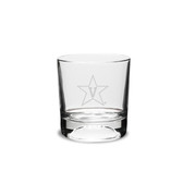 Vanderbilt Commodores 10.5 oz Deep Etched Football Double Old Fashion Glass