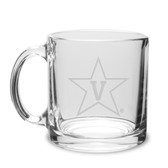 Vanderbilt Commodores 13 oz Deep Etched Clear Glass Coffee Mug