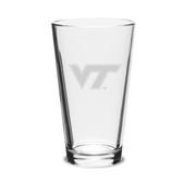 Virginia Tech Hokies 16 oz Deep Etched Pub Glass