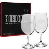 Virginia Tech Hokies Riedel - 18 oz Deep Etched Red Wine Glass - 2 PACK