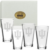 Indiana Hoosiers Deep Etched Deep Etched Classic Pub Glass Set of 4