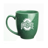 Ohio State Buckeyes 15 oz. Deep Etched Green Bistro Mug