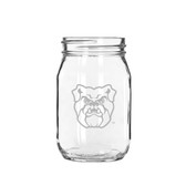 Butler Bulldogs 16 oz. Deep Etched Old Fashion Drinking Jar