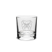 Butler Bulldogs Deep Etched 10.5 oz. Football Deep Etched Double Old Fashion Glass