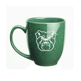 Butler Bulldogs 15 oz. Deep Etched Green Bistro Mug