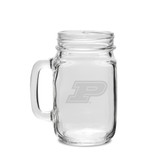 Purdue Boilermakers 16 oz. Deep Etched Old Fashion Drinking Jar with Handle