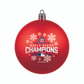 Chicago Cubs 2016 World Series Champs Red Shatterproof Ornament