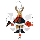 Washington Capitals Ornament - Cheering Reindeer - Wood
