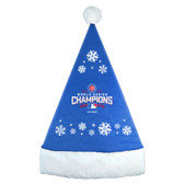 Chicago Cubs 2016 World Series Champs Snowflake Santa Hat