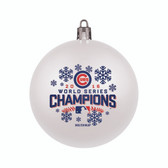 Chicago Cubs 2016 World Series Champs White Shatterproof Ornament