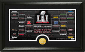 Road to Super Bowl 51 Panoramic Bronze Coin Photo Mint