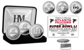 "Atlanta Falcons ""Road to Super Bowl 51"" Silver Flip Coin Set"