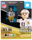 Pittsburgh Steelers HEATH MILLER SB XLIII 2009 Special Limited Edition OYO Minifigure