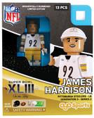 Pittsburgh Steelers JAMES HARRISON SB XLIII 2009 Special Limited Edition OYO Minifigure