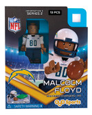 San Diego Chargers MALCOLM FLOYD Limited Edition OYO Minifigure