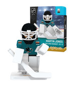 San Jose Sharks MARTIN JONES Home Uniform Limited Edition NHL Goalie OYO Minifigure