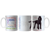 Pet Coffee Mug 11oz Poodle Black