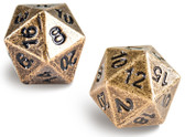 Ultra Pro Heavy Metal D20 2-Dice Set - Antique Bronze