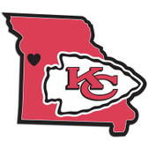 Kansas City Chiefs Decal Home State Pride