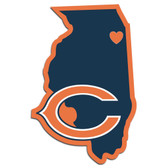 Chicago Bears Decal Home State Pride