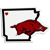 Arkansas Razorbacks Decal Home State Pride Style Special Order