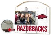 Arkansas Razorbacks Clip It Weathered Logo Photo Frame