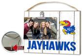 Kansas Jayhawks Clip It Weathered Logo Photo Frame