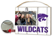 Kansas State Wildcats Clip It Weathered Logo Photo Frame