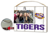 LSU Tigers Clip It Weathered Logo Photo Frame