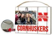 Nebraska Cornhuskers Clip It Weathered Logo Photo Frame