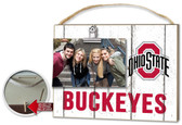 Ohio State Buckeyes Clip It Weathered Logo Photo Frame