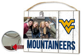 West Virginia Mountaineers Clip It Weathered Logo Photo Frame