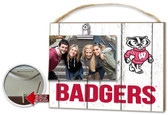 Wisconsin Badgers Clip It Weathered Logo Photo Frame