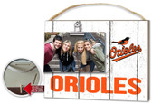Baltimore Orioles Clip It Weathered Logo Photo Frame