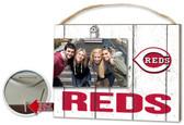 Cincinnati Reds Clip It Weathered Logo Photo Frame