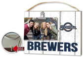 Milwaukee Brewers Clip It Weathered Logo Photo Frame