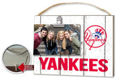 New York Yankees Clip It Weathered Logo Photo Frame