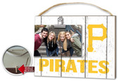 Pittsburgh Pirates Clip It Weathered Logo Photo Frame