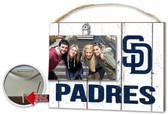 San Diego Padres Clip It Weathered Logo Photo Frame