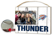 Oklahoma City Thunder Clip It Weathered Logo Photo Frame