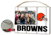 Cleveland Browns Clip It Weathered Logo Photo Frame
