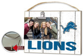 Detroit Lions Clip It Weathered Logo Photo Frame