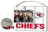 Kansas City Chiefs Clip It Weathered Logo Photo Frame