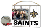New Orleans Saints Clip It Weathered Logo Photo Frame