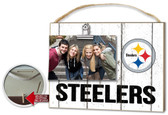 Pittsburgh Steelers Clip It Weathered Logo Photo Frame
