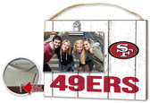 San Francisco 49ers Clip It Weathered Logo Photo Frame