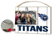Tennessee Titans Clip It Weathered Logo Photo Frame